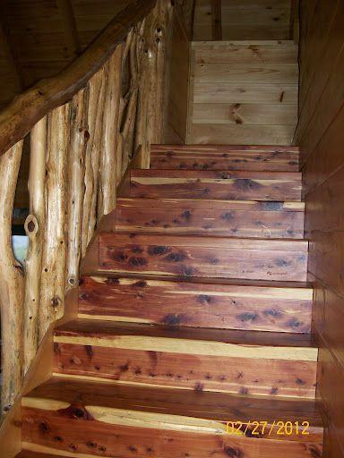 Best Beautiful Cedar Staircase Staircase Design House Design 400 x 300