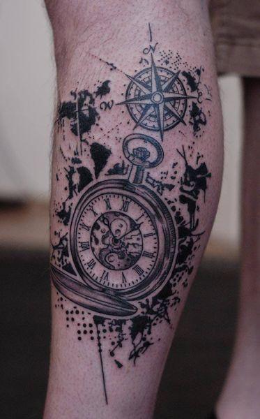 Tatuaże Zegar I Kompas Tattoos Tatuaże I Kompas