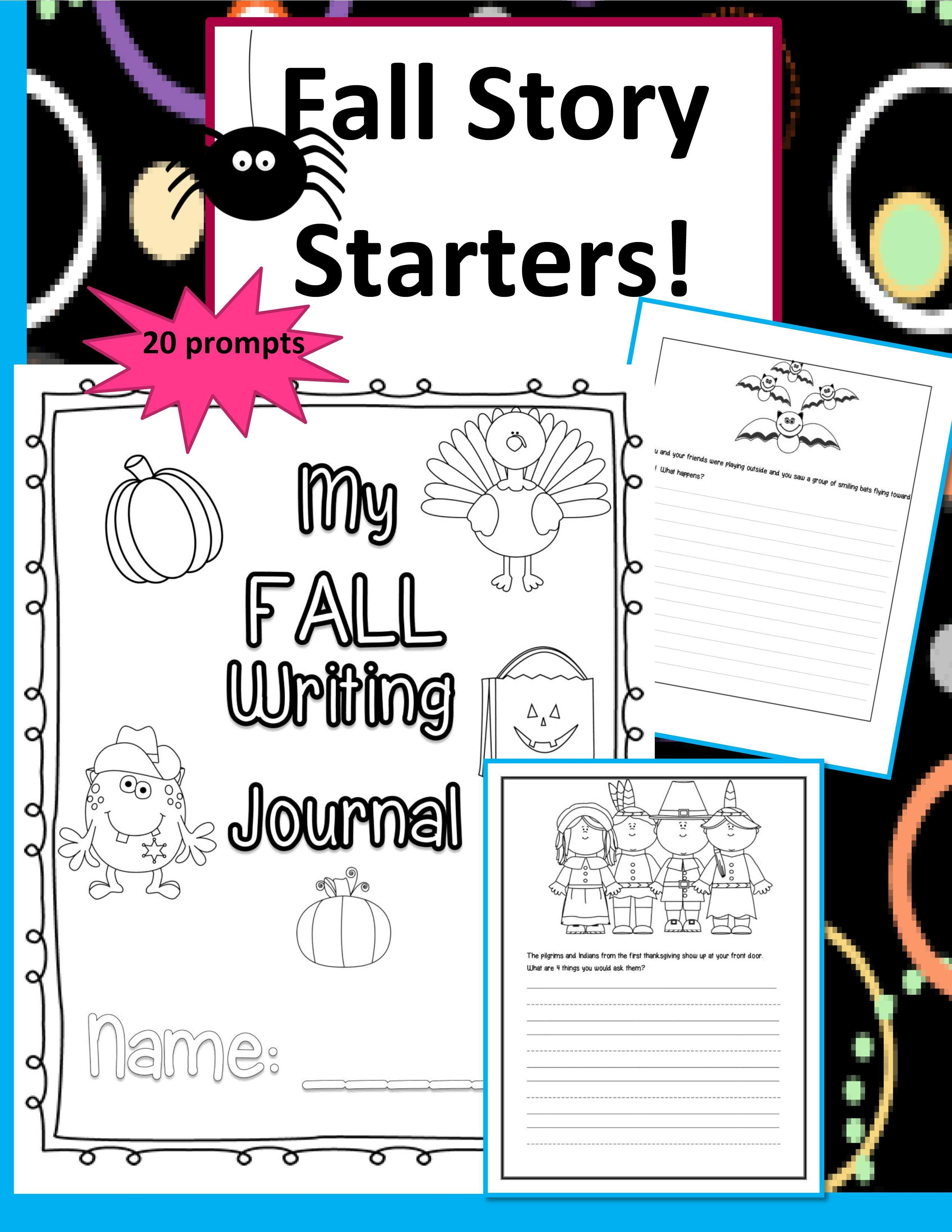 Publishers Tech Girl Fall Story Starters Set