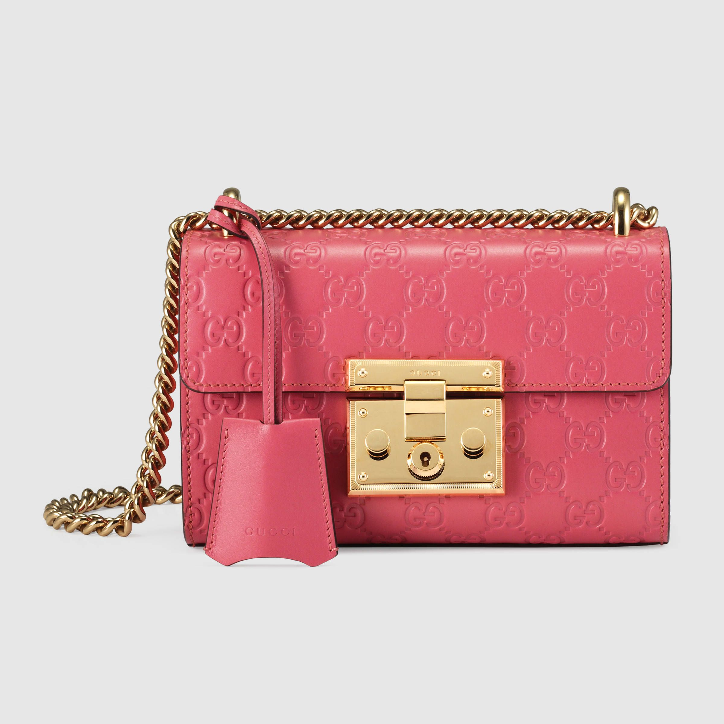 553762c8c18 Padlock Gucci Signature shoulder bag