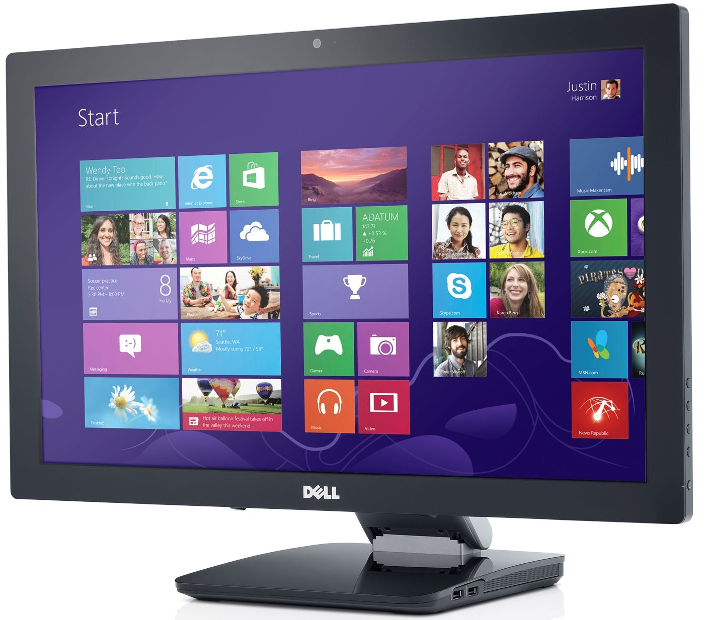 Dells new s2340t 23 multitouch monitor brings touch to