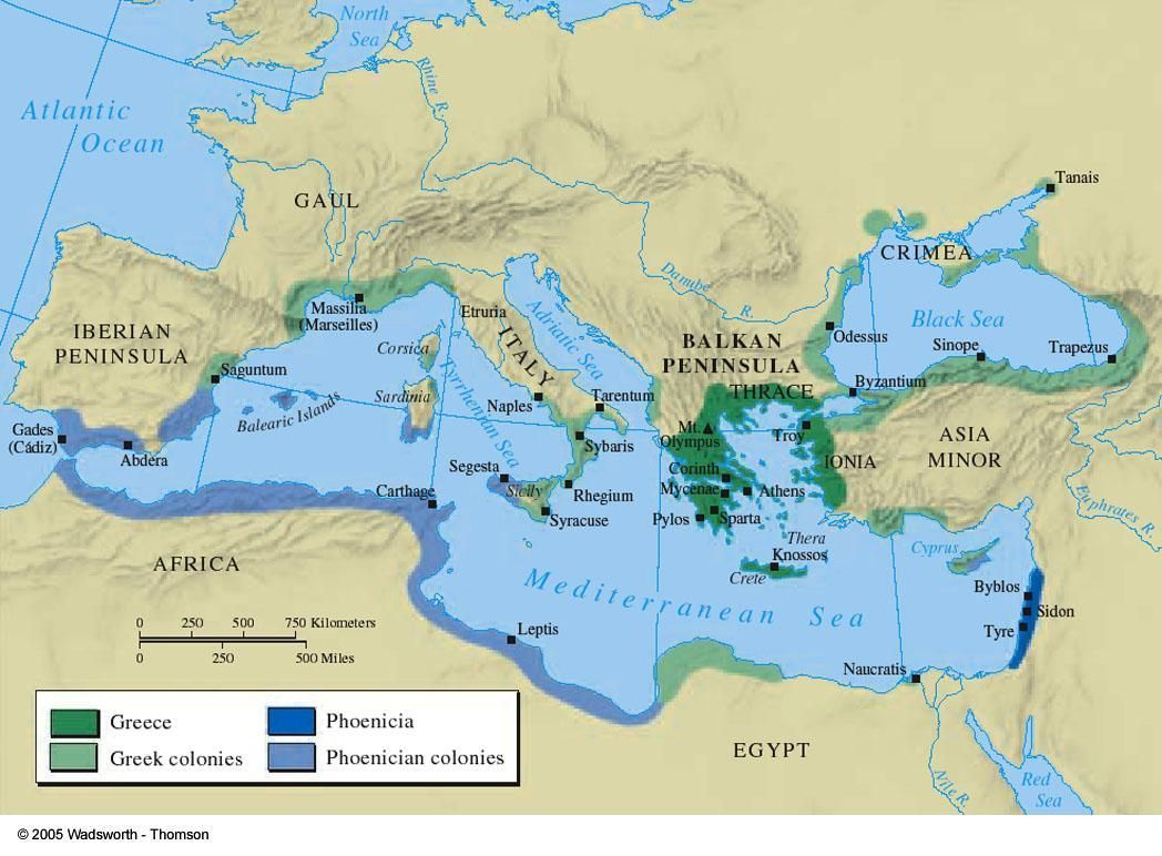 Greek And Phoenician Colonies 550 Bc Historical Maps Ancient Maps Greek History