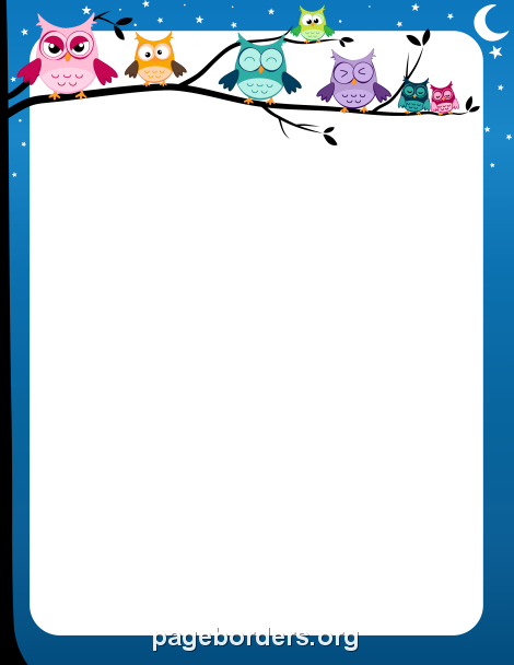 Owl Border Clip Art Page Border And Vector Graphics Page Borders Borders And Frames Borders