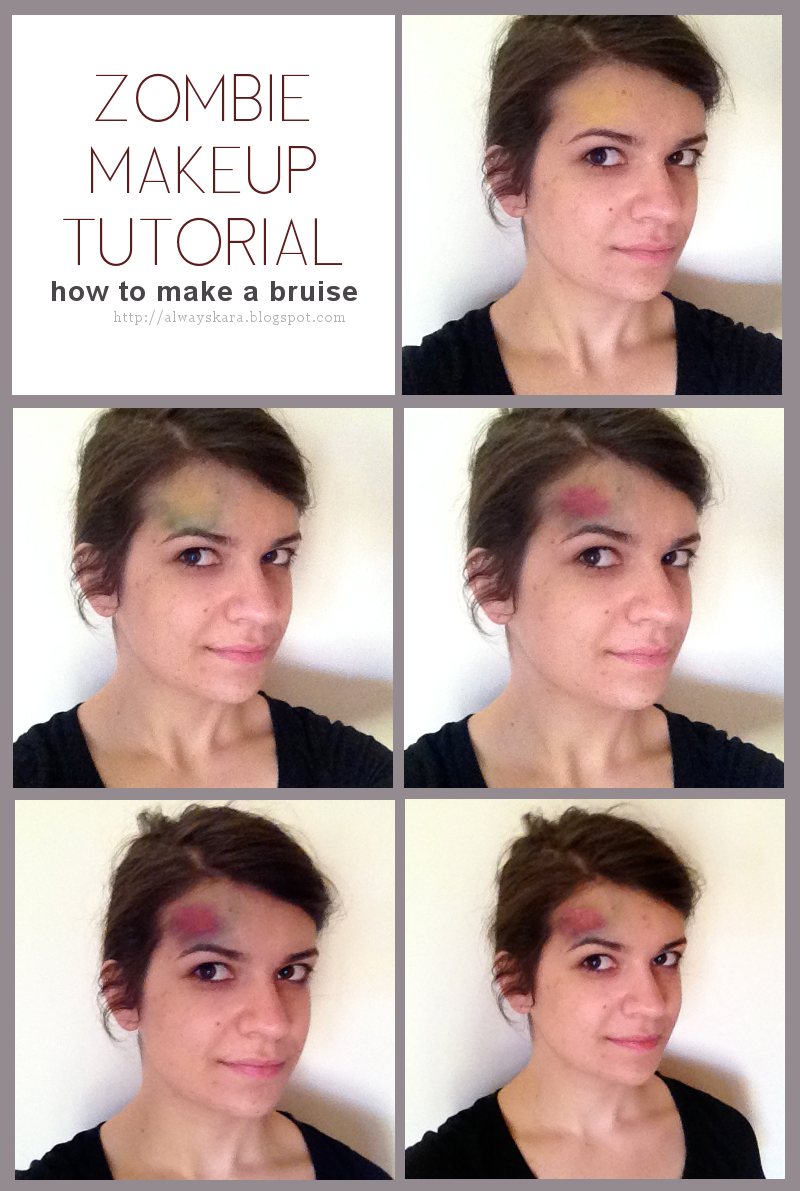 Halloween zombie makeup tutorial how to make a bruise via as always halloween zombie makeup tutorial how to make a bruise via as always kara baditri Choice Image