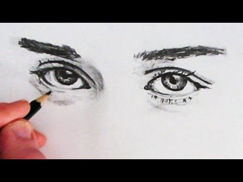 How to Draw Realistic Eyes: Narrated - YouTube
