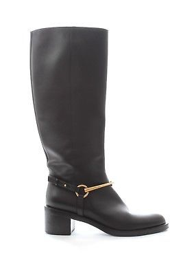 5de306046 Gucci Classic Leather Horsebit Knee-High Boots / Black / RRP: Â1050 ...