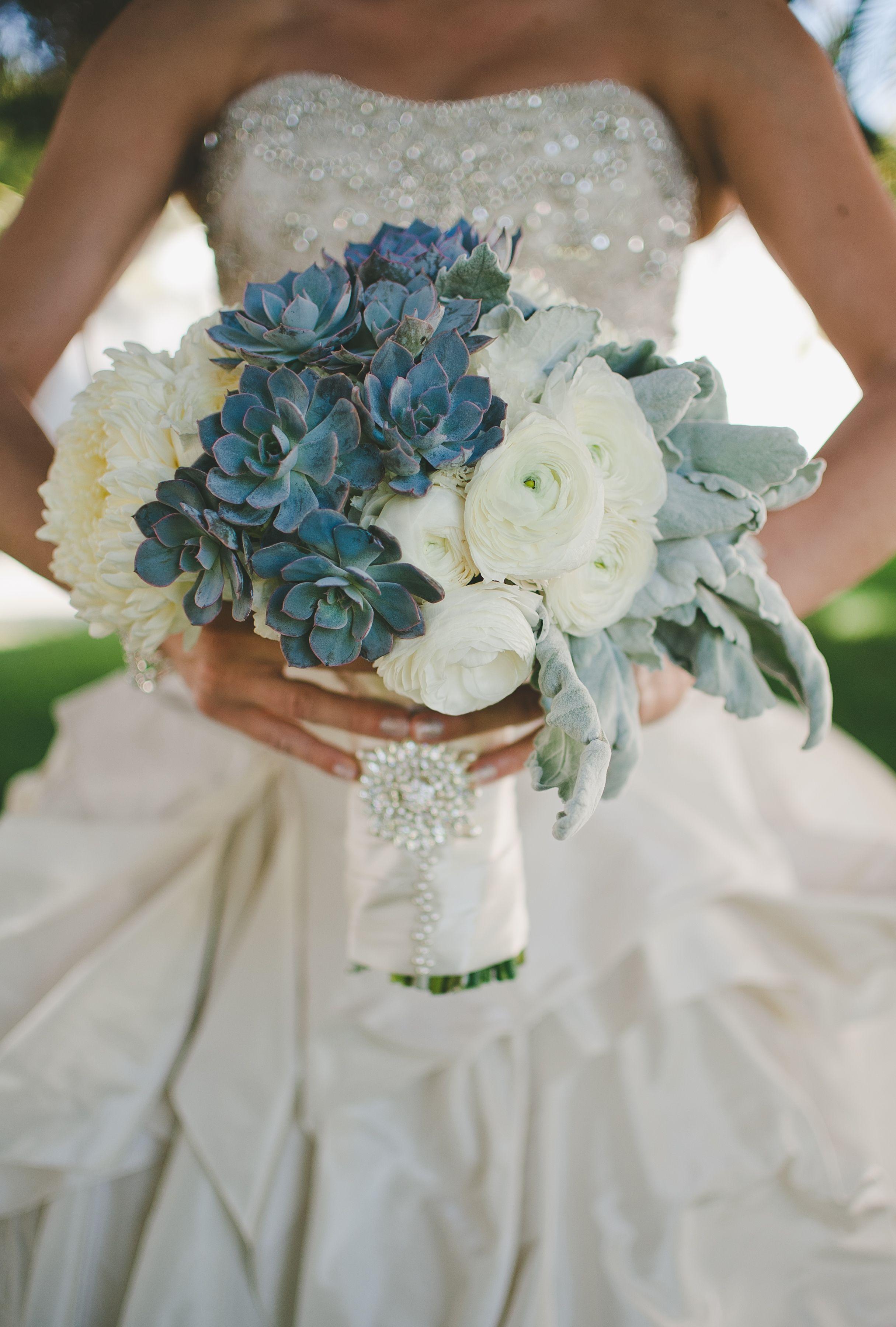 Dusty Blue Wedding Bouquets : Blush botanicals blushbotanicals textured white