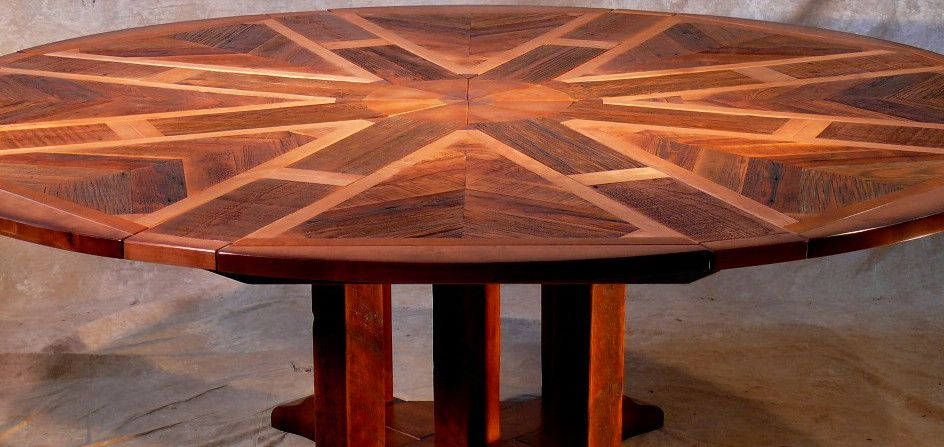 expanding round table expanding round table rustic industrial and