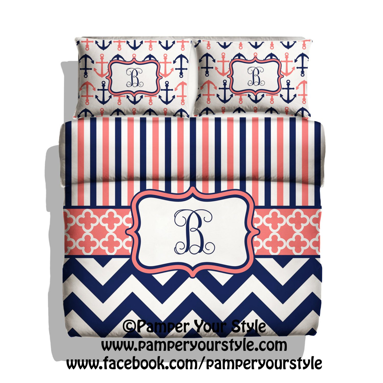 Coral Chevron Quilt-Twin/Twin Xl   Bed decor, Bedding ...
