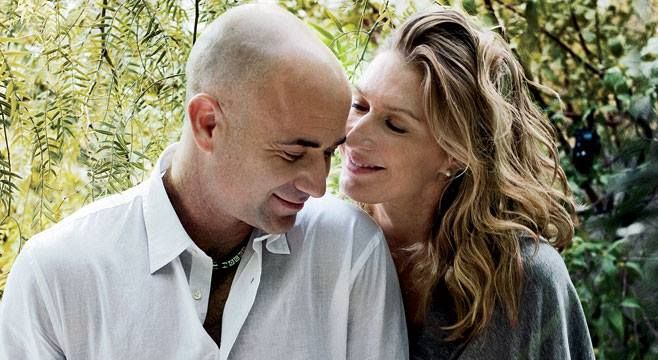 Andre And Steffi Andre Agassi Boris Becker Andre