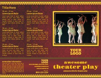 Front and back half fold play program brochure perfect for front and back half fold play program brochure perfect for theater maxwellsz