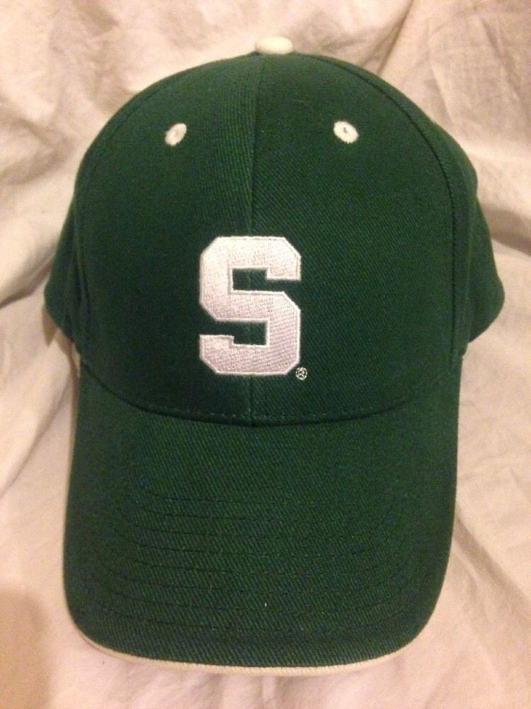 detailed look 02a16 1d5ea ... order michigan state university spartans green white hat cap ncaa  signature adjustable signature michiganstatespartans e58bc d3ff0