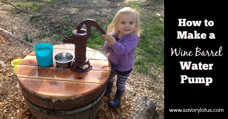 How To Make A Wine Barrel Water Pump Barrel How To Make Natural Playground