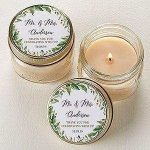 Photo of Lorbeeren der Liebe personalisierte Einmachglas Kerzenbevorzugungen