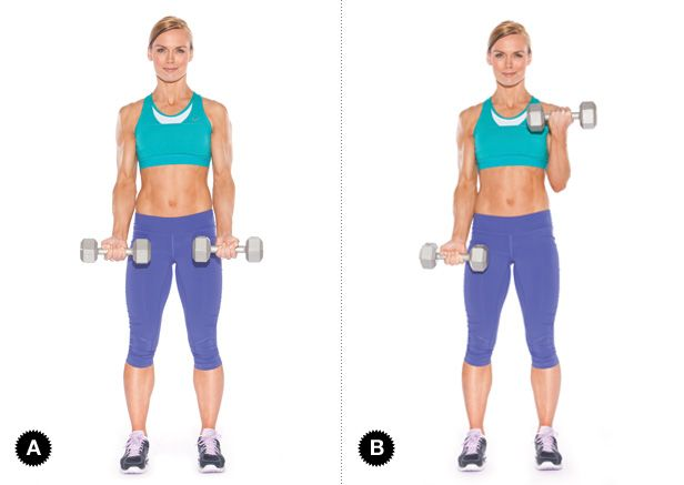 Image result for ALTERNATING BICEP CURLS