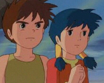 Future Boy Conan I Don T Know The Characters Names And The Cartoon Name In English Because I Had Seen This Cartoon In Arabic So I Anime Old Anime Future Boy