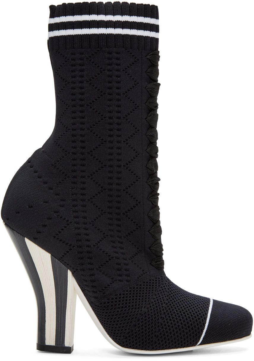Black Stretch Sock Boots Fendi zJadTp