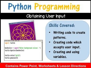 Python Coding (Making Shapes) – Getting User Input (Skill