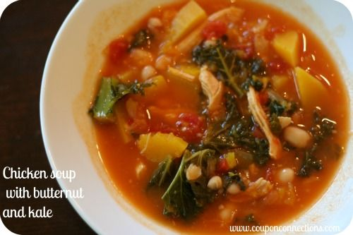 Recipe Chicken Soup With Butternut Squash And Kale Pinterest