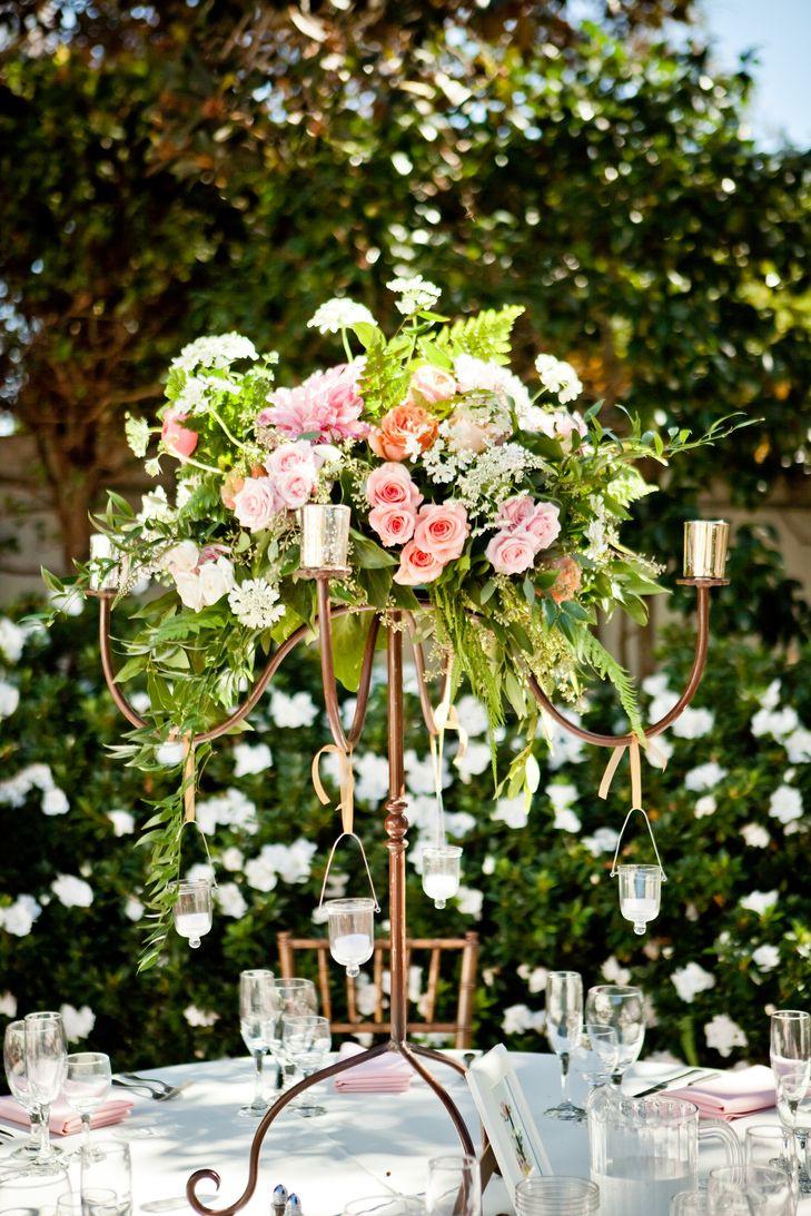 Wedding decorations house  La Jolla wedding The Darlington House Garden Blush Cream Gold