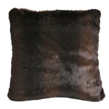 Adirondack Bear Fur Throw Pillow | Bedroom Ideas | Pinterest