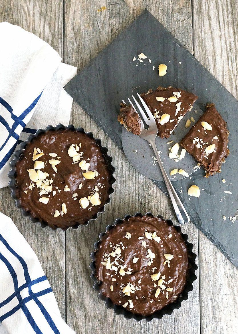 No Bake Chocolate Pie with Coffee Macadamia Crust {Paleo} | Grazed and Enthused