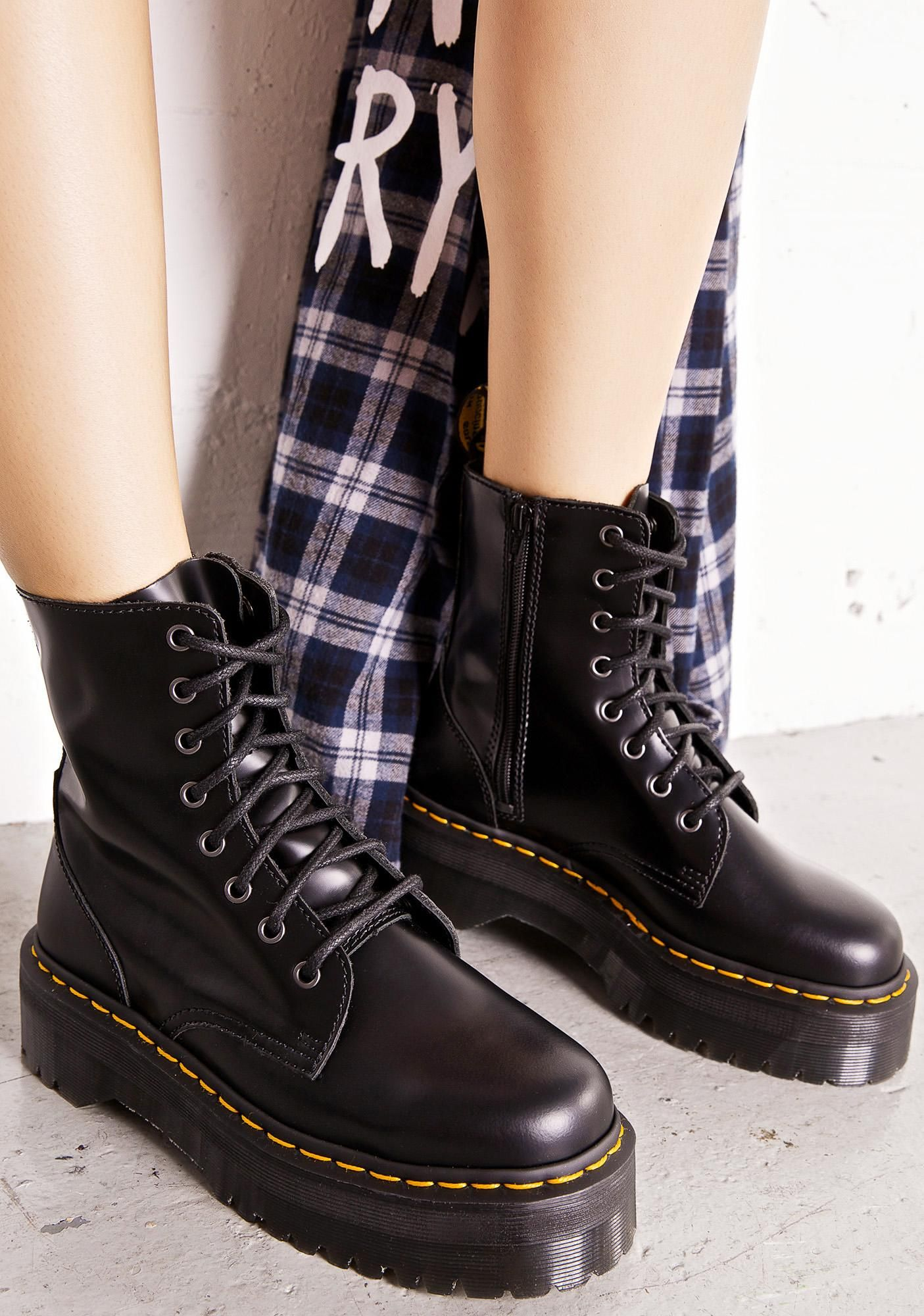 f6ca156412 Dr. Martens Jadon 8 Eye Boots cuz yer gunna need sum extra height to pull