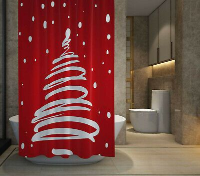 HOT SALE Merry Christmas Tree Shower Curtain size 60x72  72x72