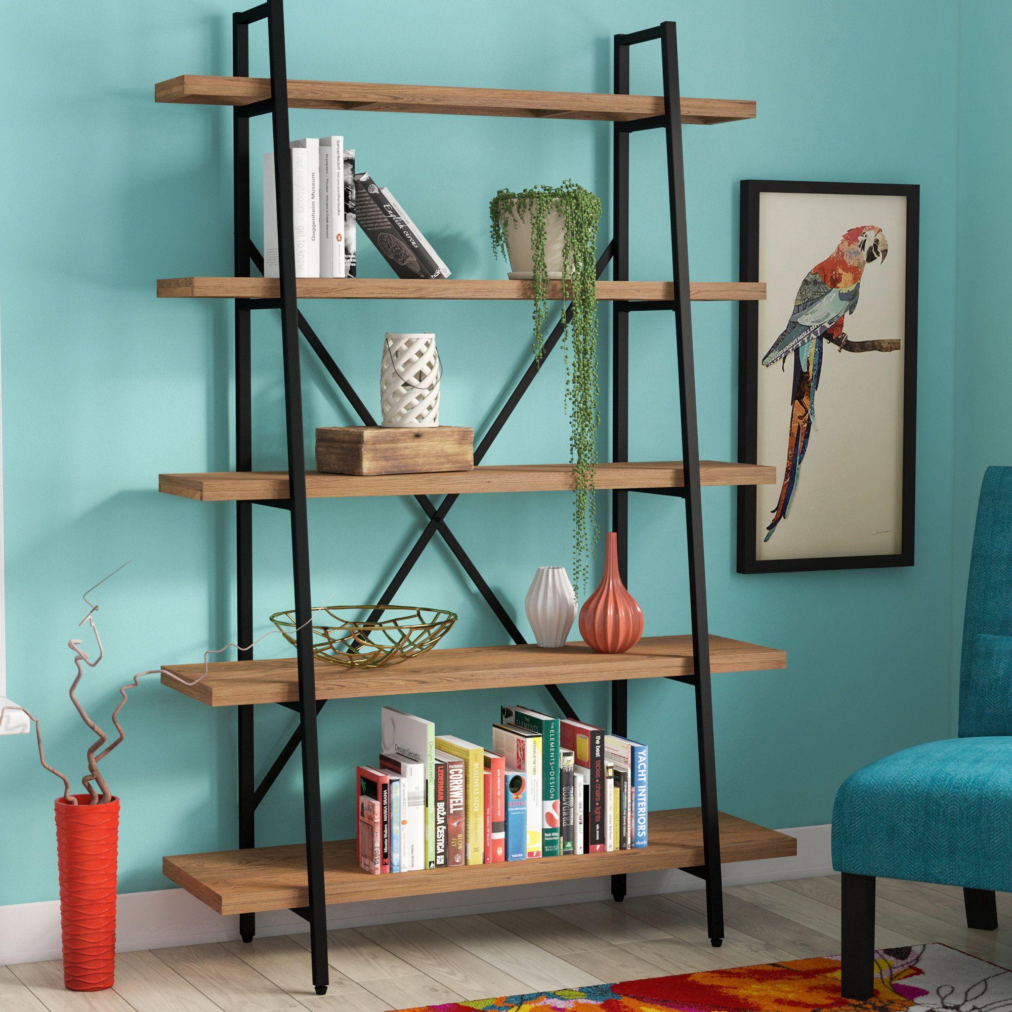 new style 4e15a 81468 Theo Ladder Bookcase   condo in 2019   Etagere bookcase ...