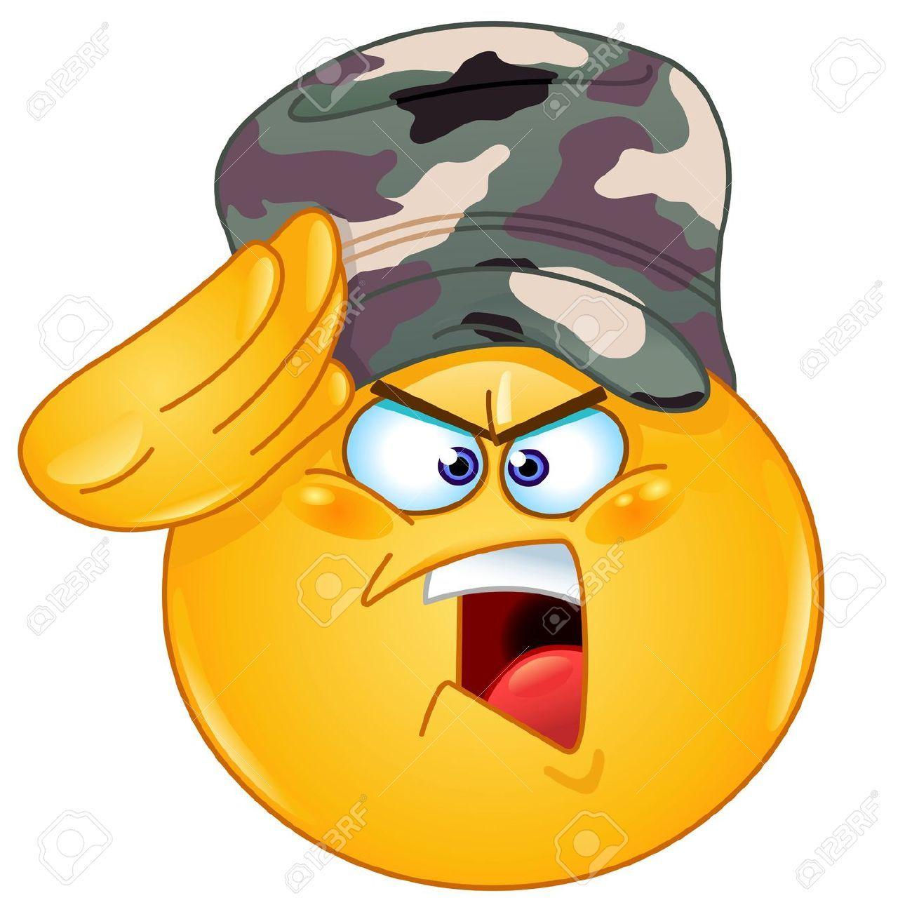 18539896 soldado saludando emoticon decir s se or foto de archivo saluting soldier smiley copy send share send in a message share on a timeline or copy and paste in your comments buycottarizona