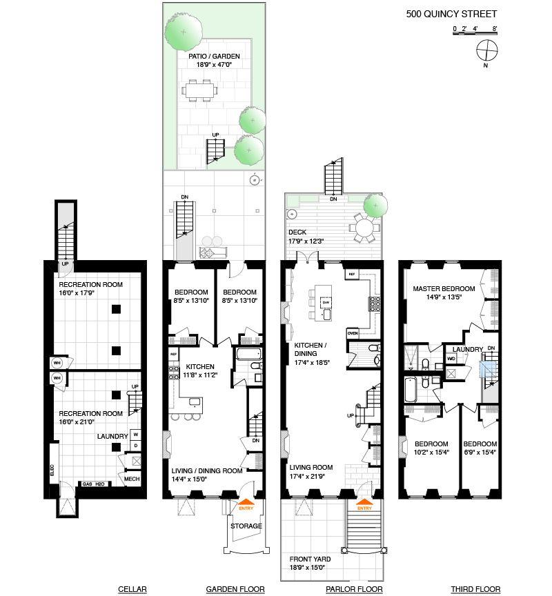 500 Quincy Street House Floor Plans Modern House Design Floor Plans