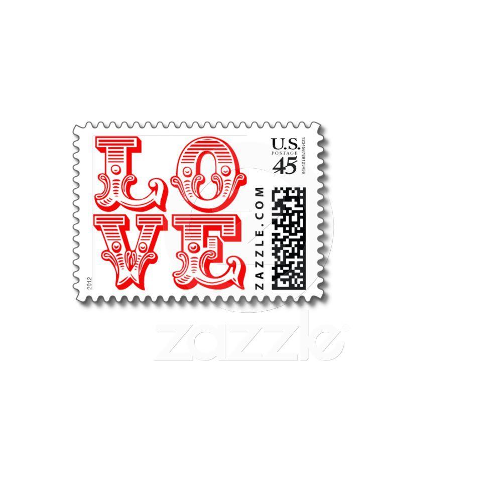 Postage For Wedding Invitations: Love Wedding Invitations RSVP Valentine's Day Postage