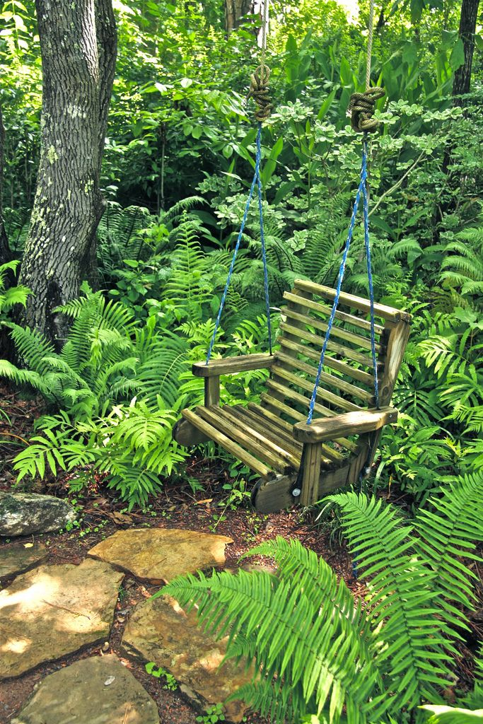 Swing For One Small Cottage Garden Ideas Woodland Garden