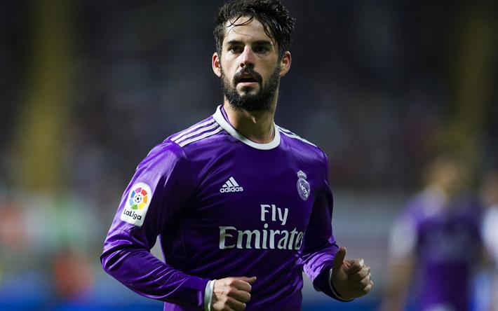 Download Wallpapers Isco 4k Footballers La Liga Football Stars Real Madrid Galacticos Besthqwallpapers Com Isco Real Madrid Transfer James Rodriguez