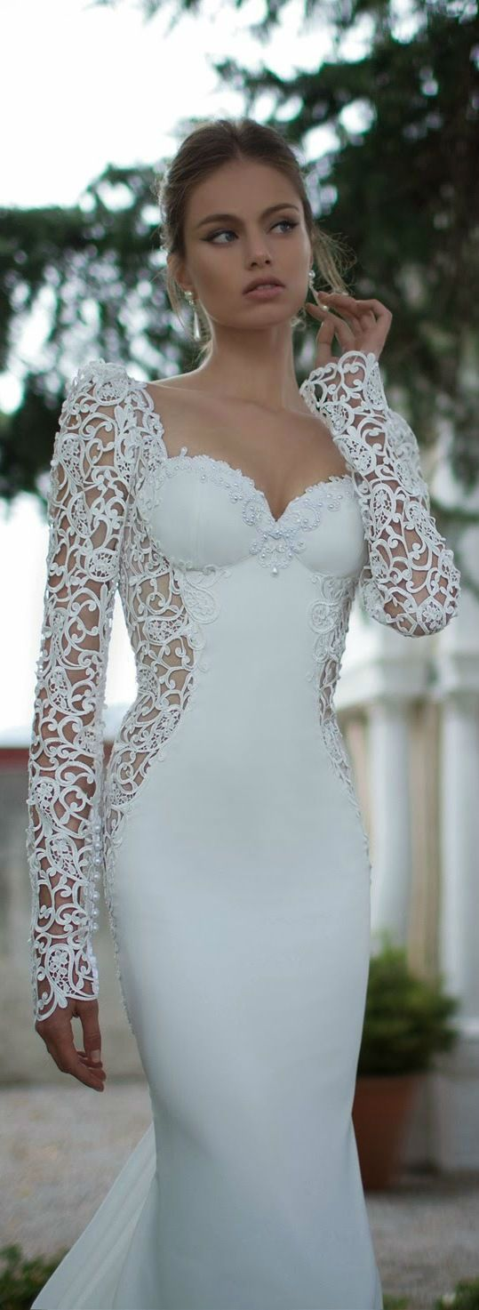 48 Elegant Long Sleeve Wedding Dresses for Winter Brides   El sol ...