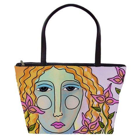 9fbc3e31f5c3 Summer Flowers Large Abstract Art Shoulder Bag