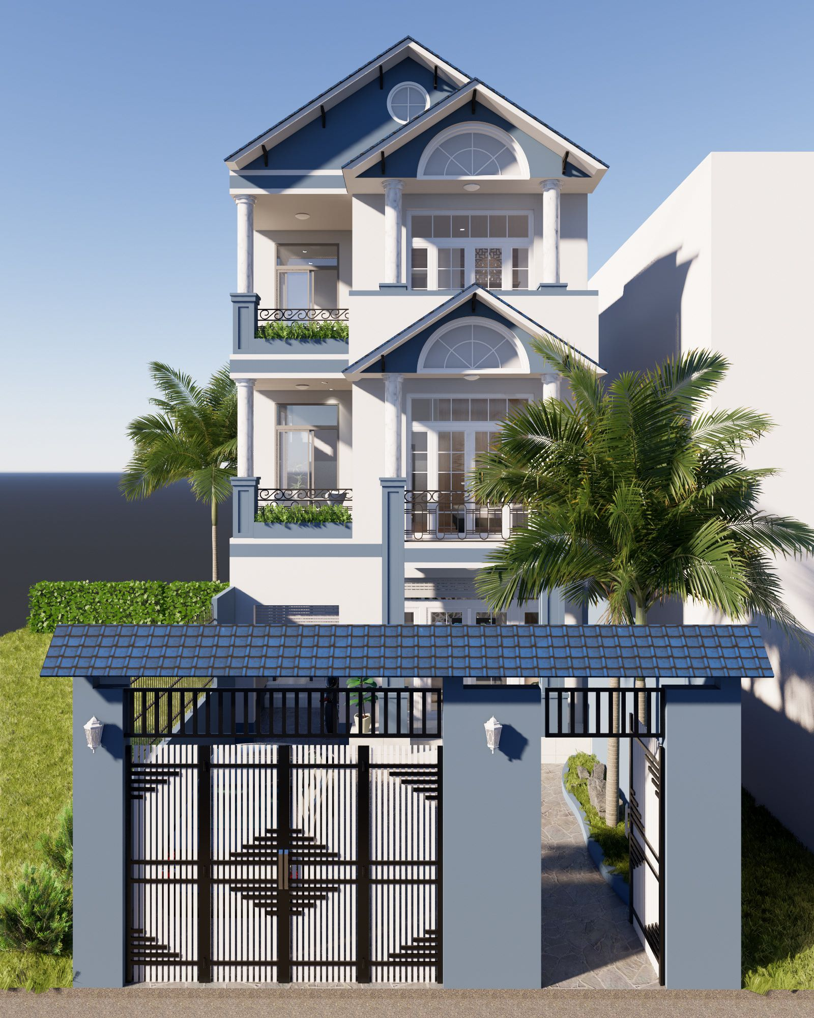 Sketchup Home Design: 2758 Exterior House Scene Sketchup Model By NguyenTruong