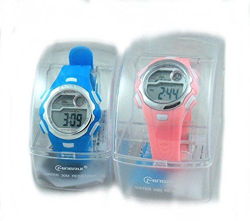 2 Pack Children's Pink and Blue Sports Digital Watch