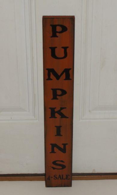 Primitive Pumpkins For Sale Vertical Wood Sign | Fun fall ...