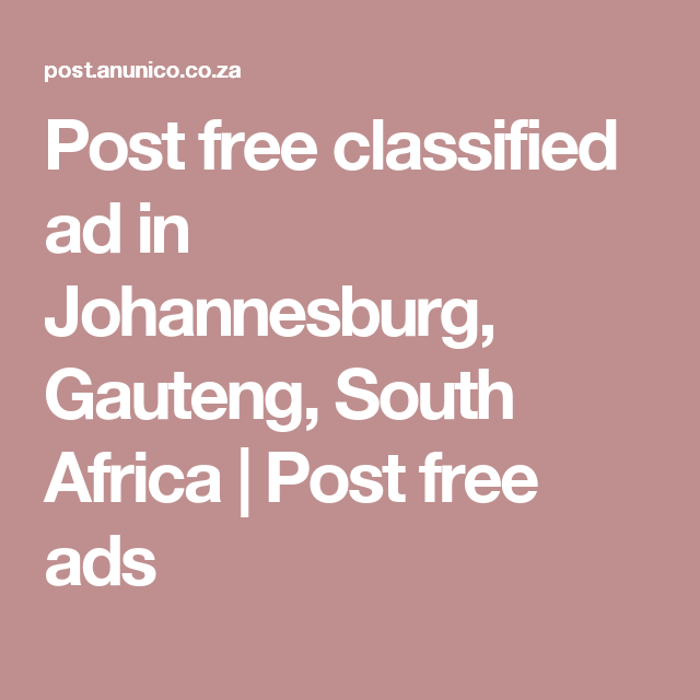 Free ads in johannesburg