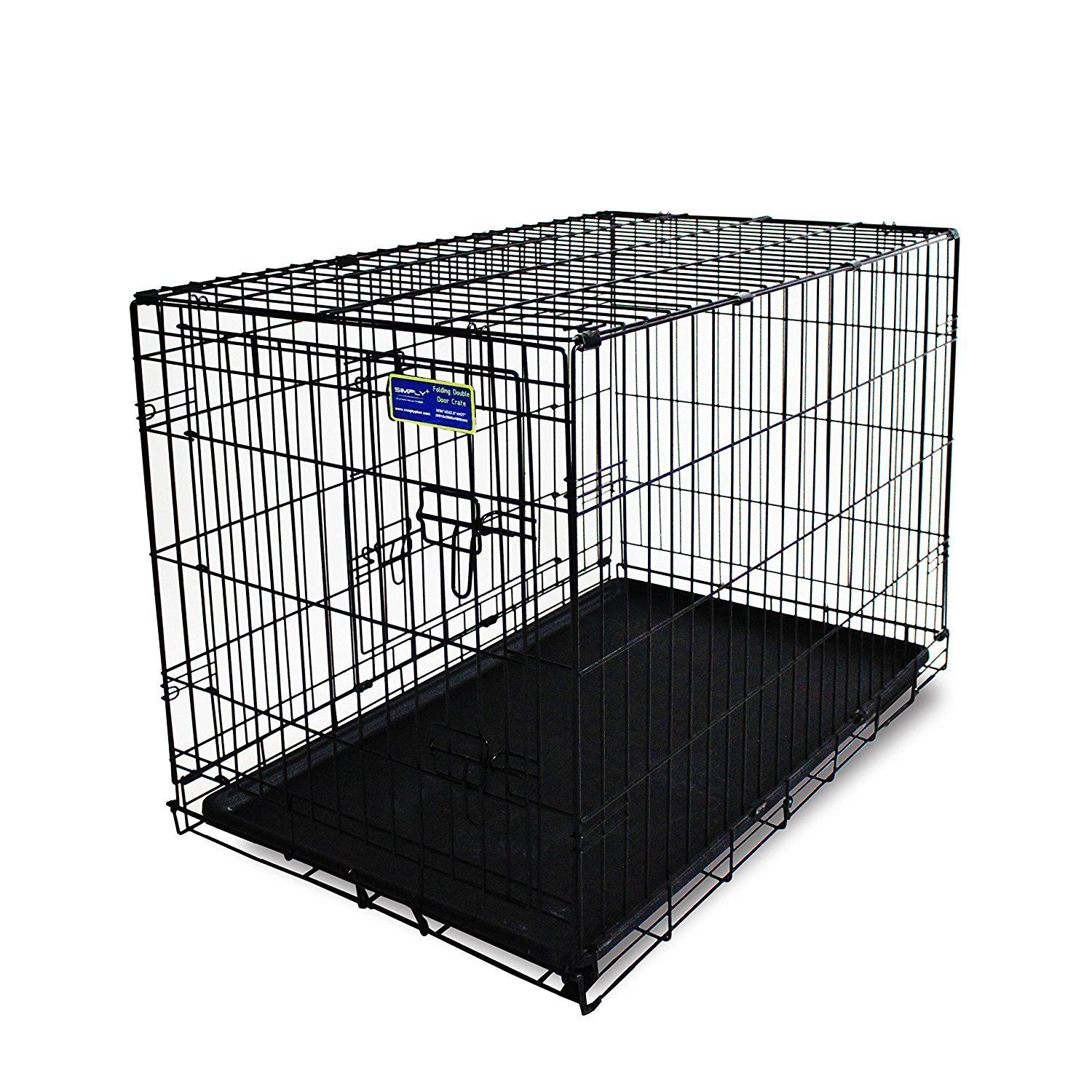 Simply Plus Dog Crate Newly Designed Model Double Doors Folding Metal W Tray You Can Get Additional Details A Dog Crate Wire Dog Crates Dog Travel Crate
