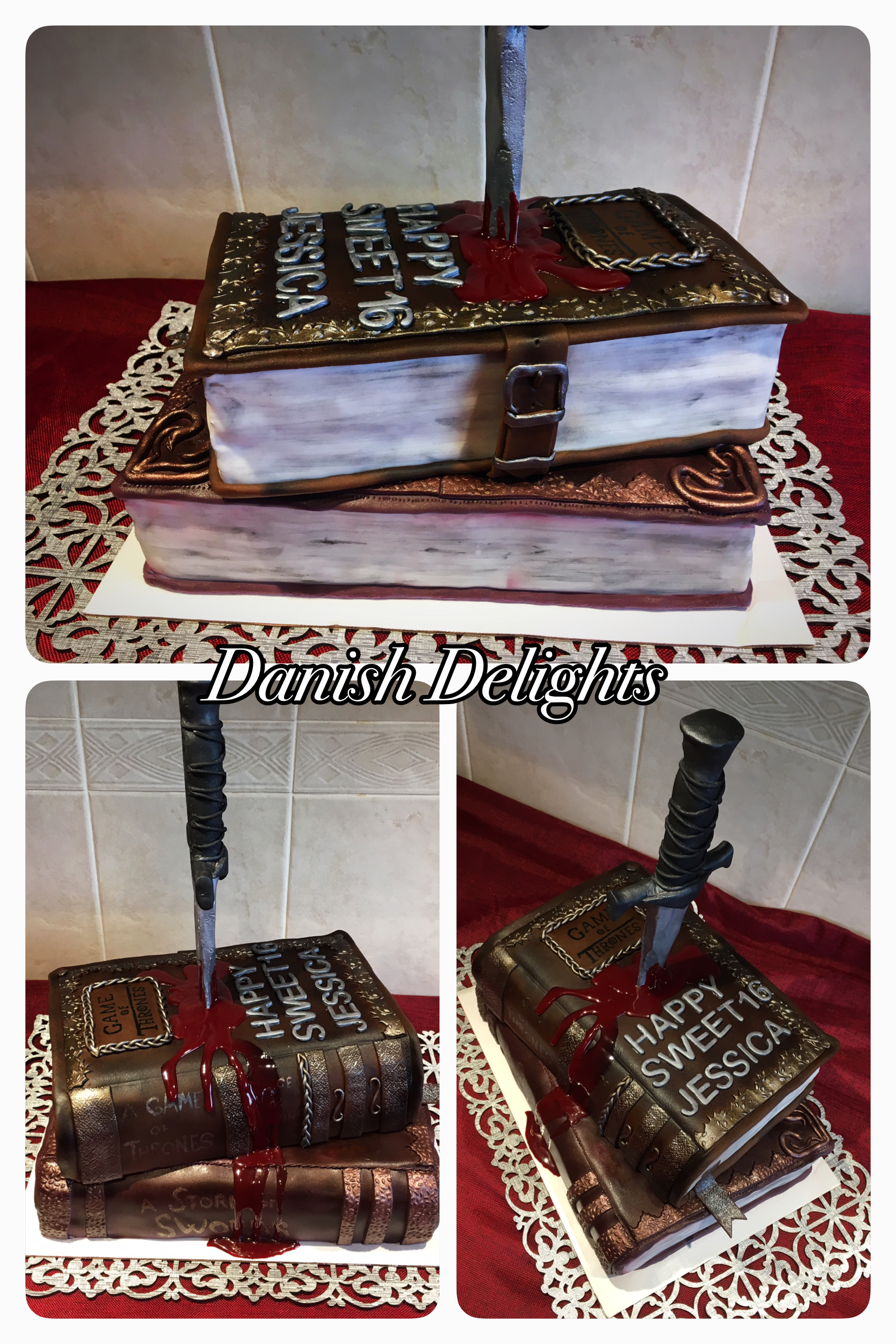 Cake Game of Thrones Ancient book cake Carrot cake and chocolate
