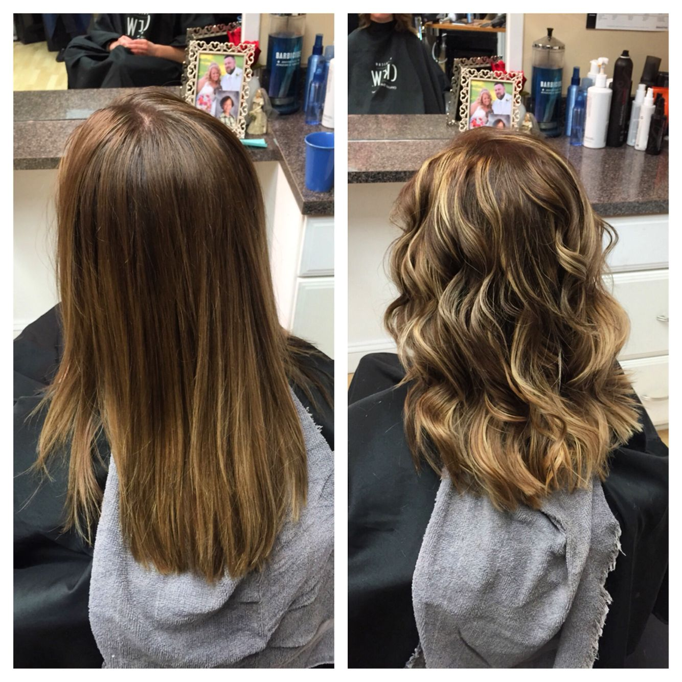 Balayage Wella Hair Blondor Cream Koleston Perfect Color