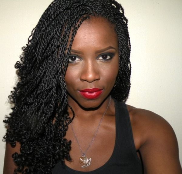 Kinky Twists Braided Hairstyle for Black Women | Hair ...