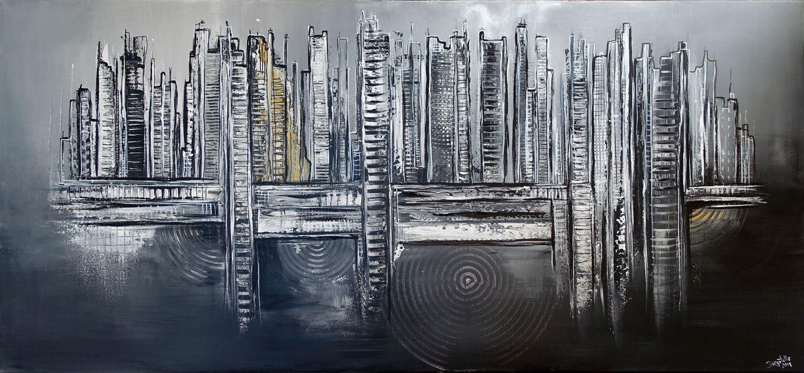 268 abstrakte gemalde verkauft schwarz weiss gold auftragsmalerei wandbilder original kunst abstraktes abstrakt verkaufen acrylbilder geometrisch