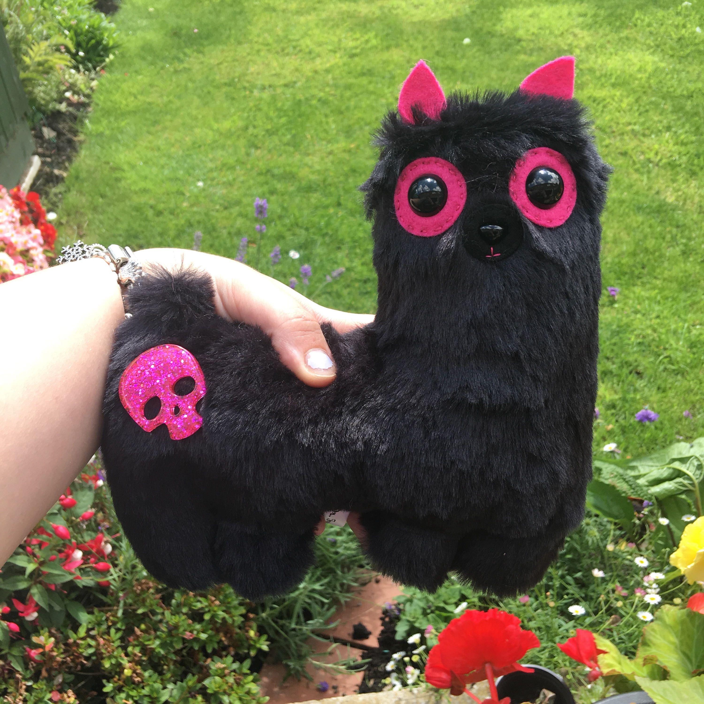 Punk Rock Alpaca Plush Toy Llama Kawaii Plushie Weird