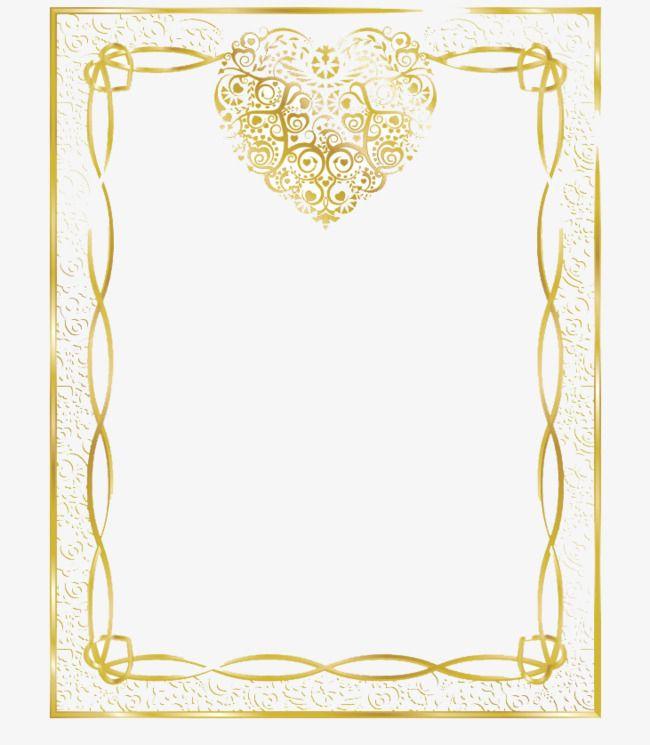 Vintage Gold Frame Heart Shaped Vintage Vector Png Transparent Clipart Image And Psd File For Free Download Gold Frame Floral Border Design Printable Frames