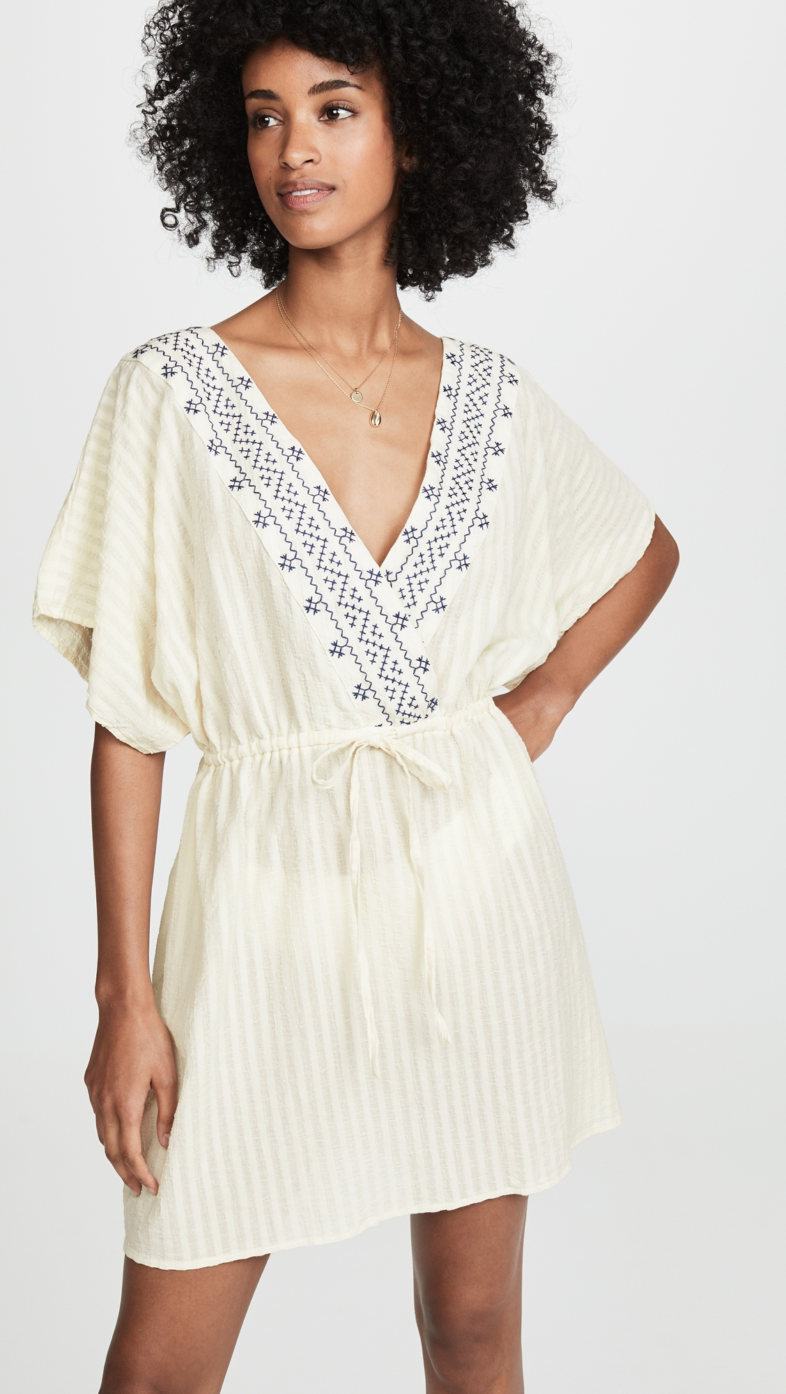 b35cd5588b817 Madewell Embroidered Tie Back Cover-Up Dress in 2019 | Products ...