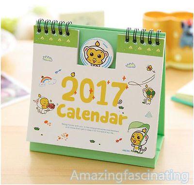 3Pcs Solid Color Mini Desktop 2021 Calendar Daily Schedule Planner Desk Calendar