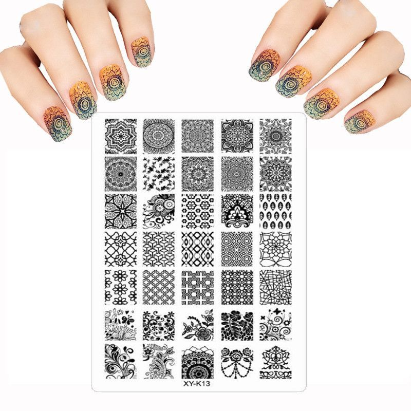 Acrylic Fashion New Nail Art Templates Plastic Lace Flower Many